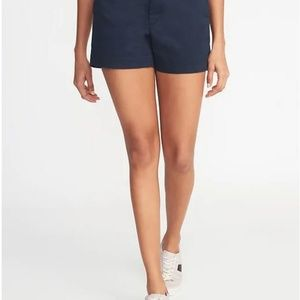 Old Navy Everyday Shorts Navy Blue Cotton Chinos